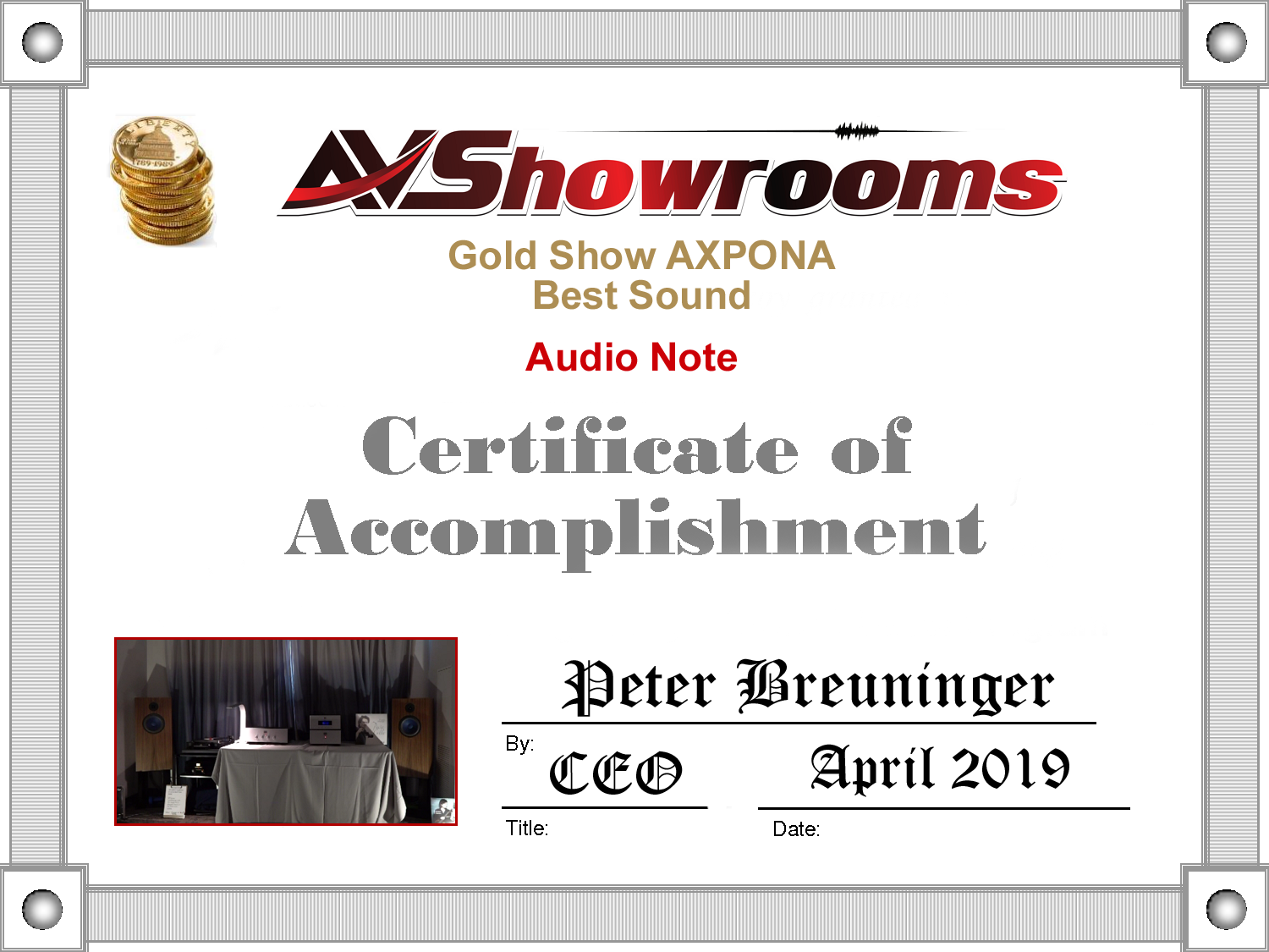 AXPONA 2019 Awards & Show Report - AV Showrooms